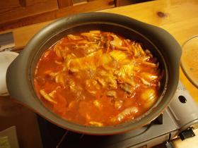 トマト鍋ぐつぐつ