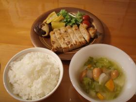 塩麹ポーク夕飯