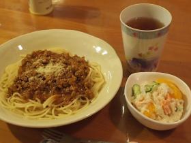 ポテサラ&夕食