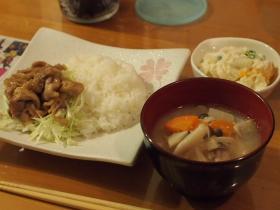 きのこ汁&夕飯