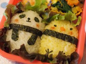 パンダ/ひよこお弁当3
