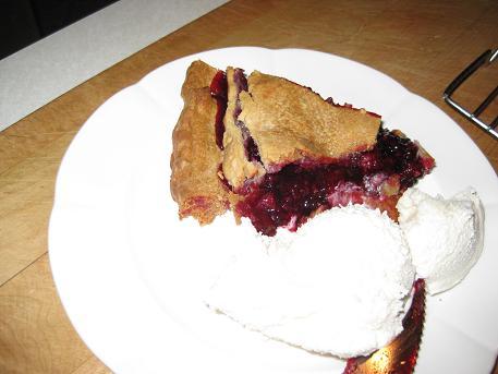 berry pie and icecream