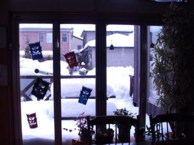 20120204店内から見える雪景色