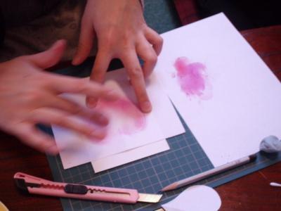 20120208パステル画を描く2