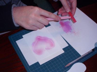 20120208パステル画を描く1