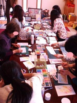 20120307パステル画体験教室の様子