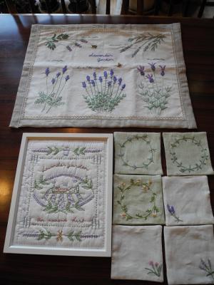 20121121ラベンダーの刺繍作品