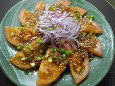 20121215トマトの韓国風サラダ