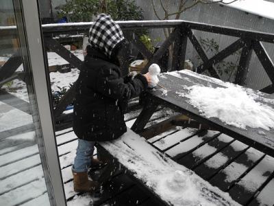 20121226雪だるま作り