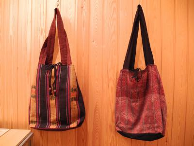 ミャンマー織り布バック
