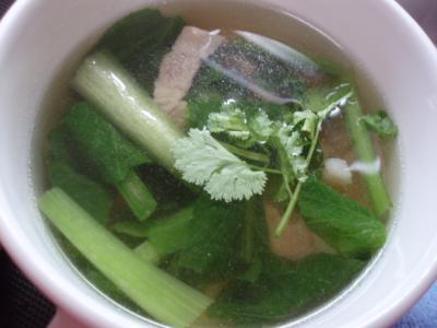 20111105小松菜と豚のスープ