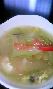 スイカのコンソメスープ