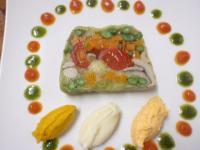 有機野菜のテリーヌ、野菜のピュレ
