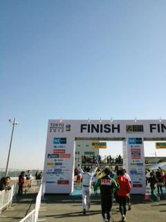 2013東京マラソンゴール目前