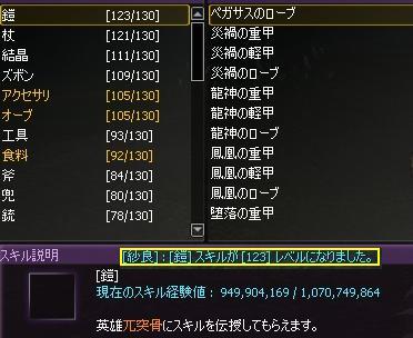 鎧Lv123