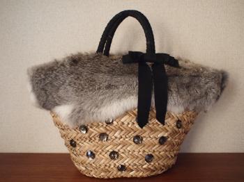秋冬に♡ふわふわ可愛いファーカゴバッグをハンドメイド♡