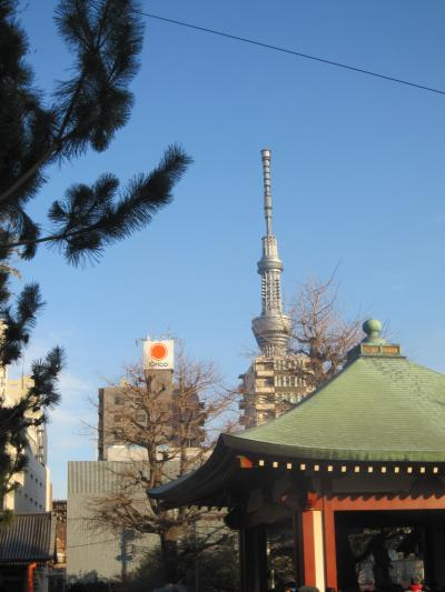 浅草寺から見た感じ