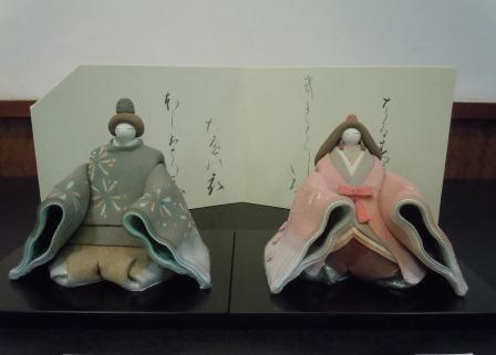 彩色座り雛(亀井桂子作)