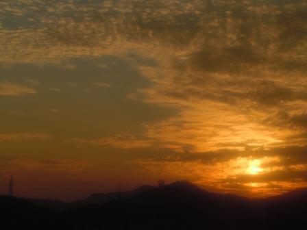 車窓からの夕景(2011-10-27)