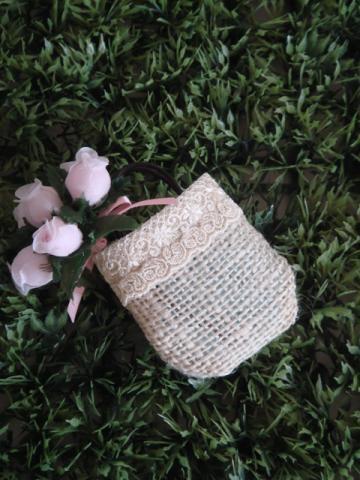 bag pink rose