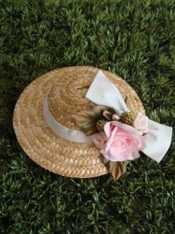 hat pink rose