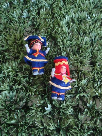 DDR dolls blue  red