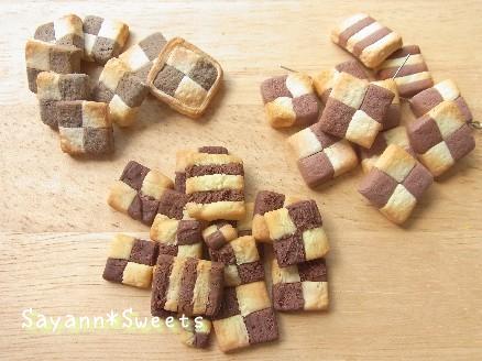 市松クッキー素材実験