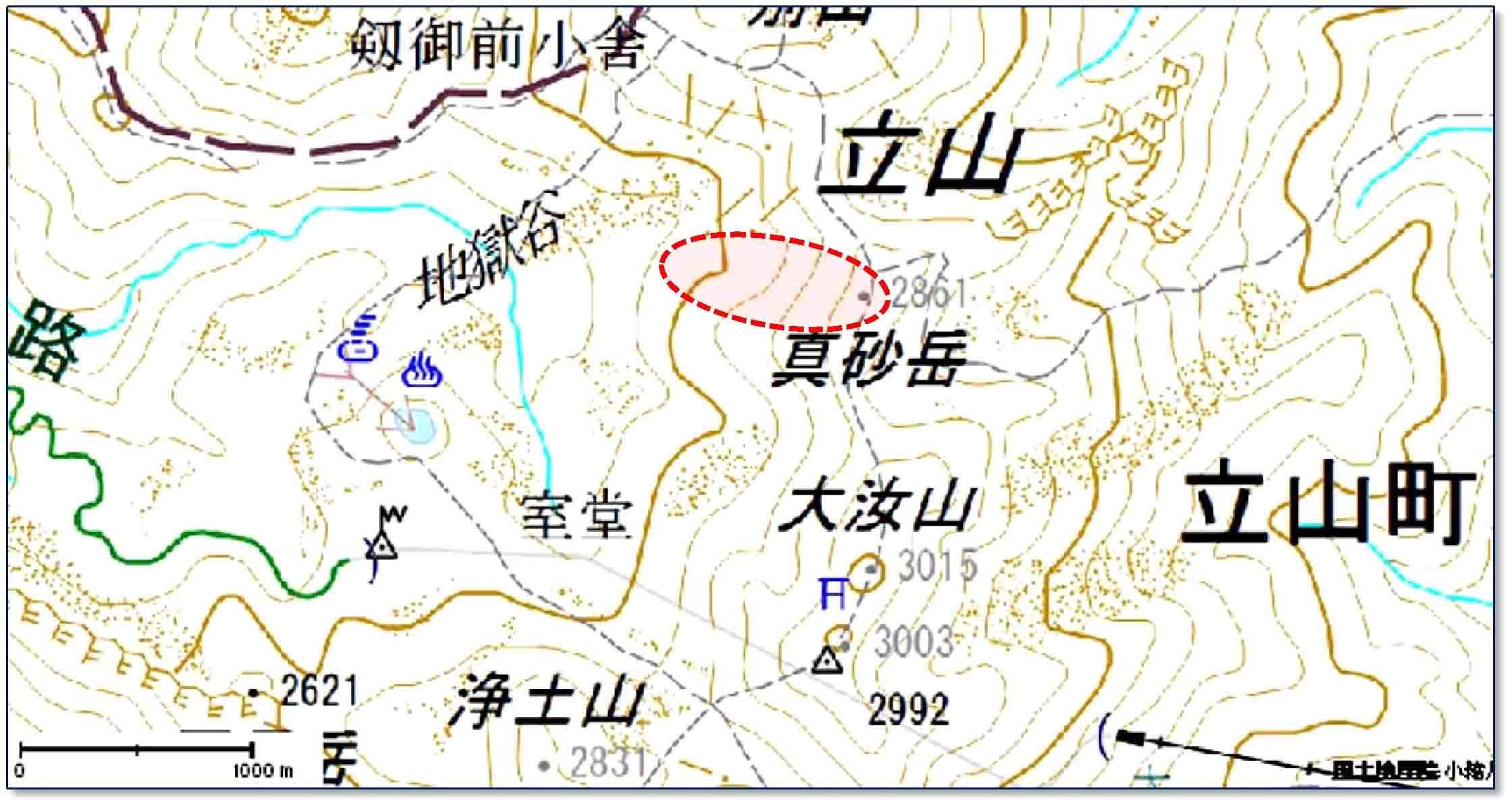 立山周辺の地図(1)