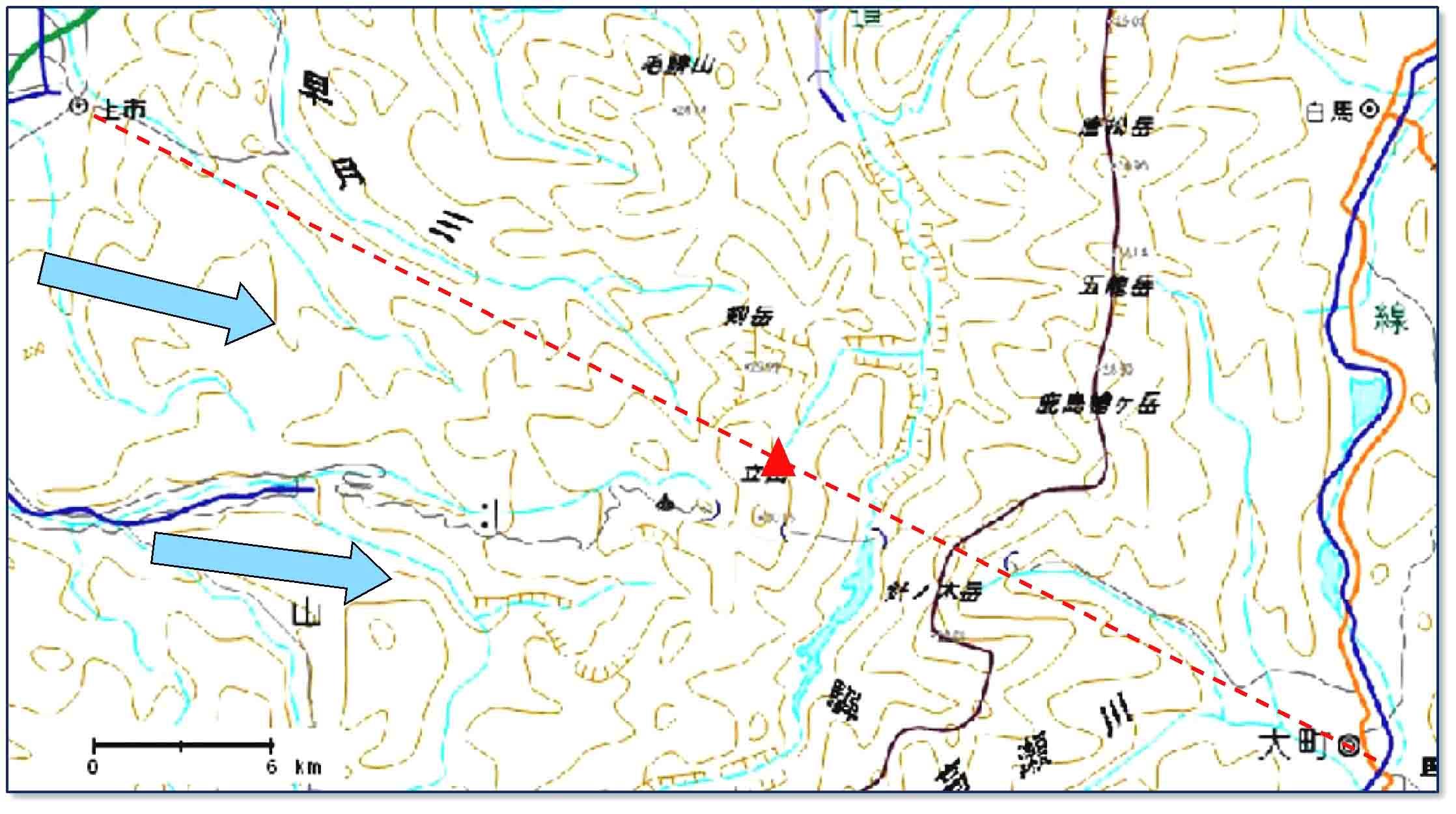 立山周辺の地図(2)