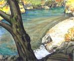 錦秋の多摩川