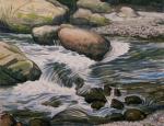 日原の渓流