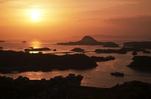 高舞登山の夕景