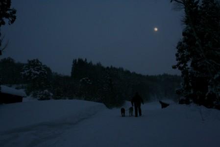 ほぼ満月の夜
