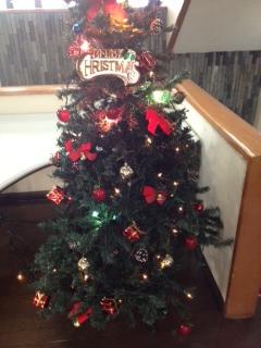 クラブハウスのクリスマスツリー