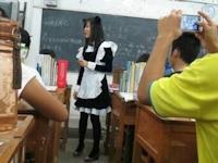 メイド服で授業する女教師の画像が中国で話題