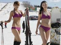 中国・瀋陽のスキー場で美人コンテスト開催