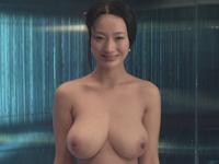 中国巨乳美女モデル 王李丹(Wang Lidan)の「一路向西」の濡れ場シーンヌード