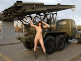 ロシア美女 野外露出ヌード画像 7