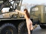 ロシア美女 野外露出ヌード画像 8