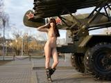 ロシア美女 野外露出ヌード画像 11