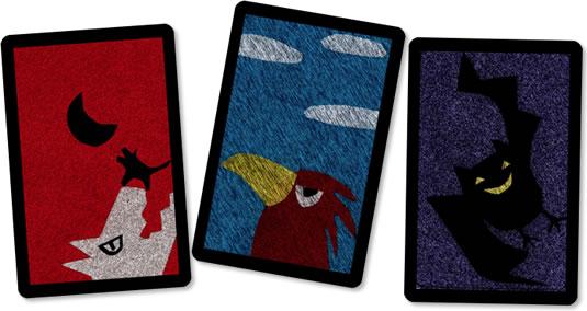 卑怯なコウモリ:カード3種類