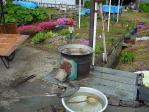 タケノコ等を茹でる釜