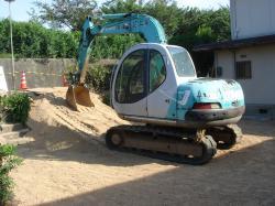 工事期間中のみ、土をいれます