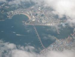 空から見た釜山