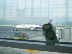 駐機場のタイ航空機