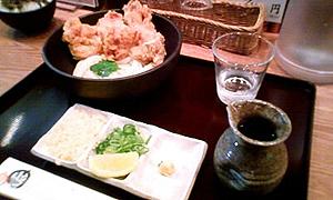 七弐八製麺の鶏天ぶっかけ
