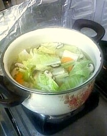雑煮の準備
