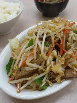 鶴廣ニラ野菜イタメ600+ライス2002