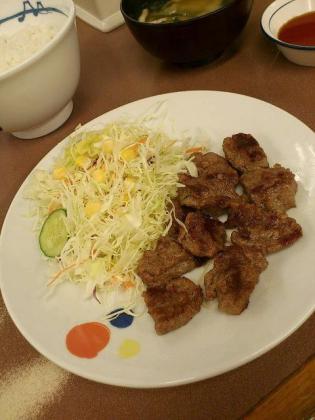 松屋、中落ちカルビステーキ定食2