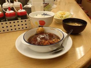 松屋シチューハンバーグ定食3
